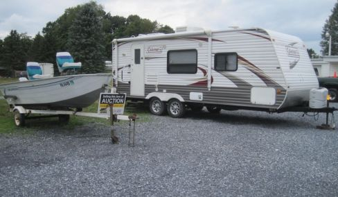 On Line Auction - RV Trailer, Furniture, Boat, Sail Fish Mount