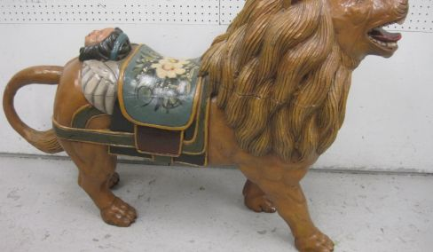 Art, Steinway, Carousel Lion, Furniture